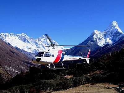 Nepal Helicopter tour  » Click to zoom ->